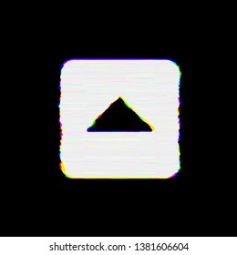 Symbol caret square up has defects. Glitch and stripes