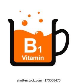 Symbol of a cup of B1 vitamin