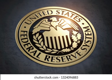 Symbol of FED federal reserve of USA. 3d illustration