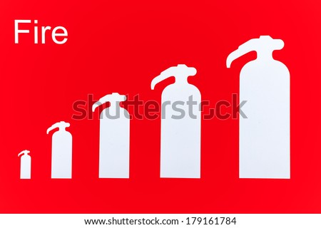 Symbol Fire Extinguishers On Wall Stock Illustration Royalty Free