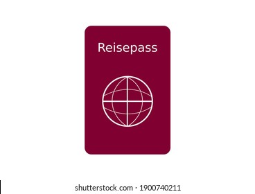 symbol of a german passport in red