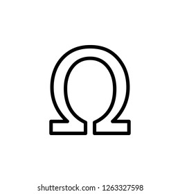 symbol, ohm sign icon. Can be used for web, logo, mobile app, UI, UX on white background