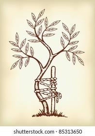The symbol of orthopedics and traumatology.