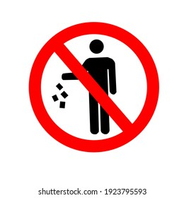 symbol is prohibited from littering