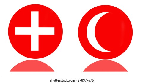 symbol red cross and crescent