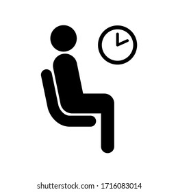 Symbol sign. Waiting Room pictogram, waiting room sign