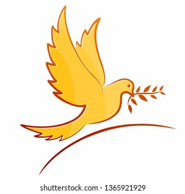 A symbol of the stylized flying bird.