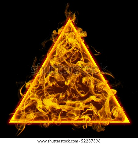 symbol triangle flame check all fireのイラスト素材 52237396