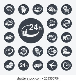 symbols - delivery of purchase a home within 24 or 48 hours