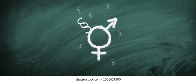 Symbols for female, male, gender and paragraph