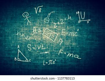 Symbols of the school. Educational concept.