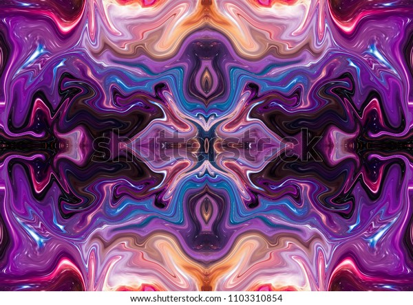 Symmetric fractal pattern background for labels, booklets, flyers and posters or covers. Good for any printed production, print on fabric, clothes and ceramic. Template for design products decoration.