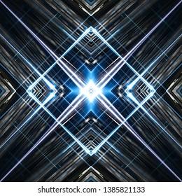 Symmetrical design stripes, digital illustration