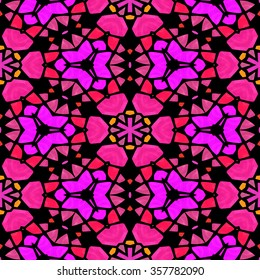 Symmetry kaleidoscope colored glass - textured background