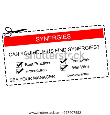 synergies red white coupon making great stock illustration 297407552