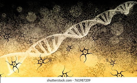 Synthetic DNA - Gene Editing - Abstract Illustration