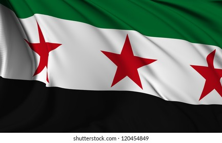 Syria Republic flag - Syrian National Coalition flag HI-RES collection