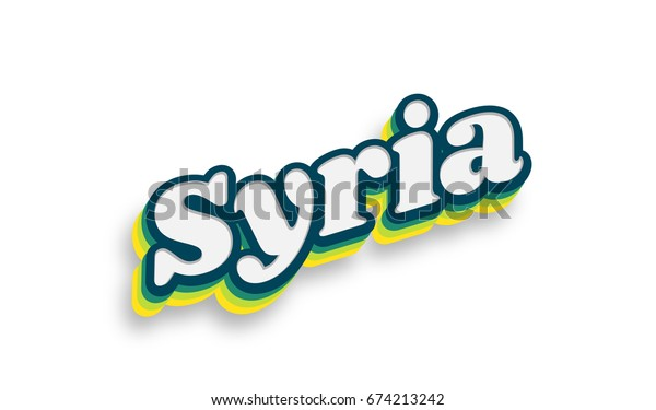Syria text for title destination branding