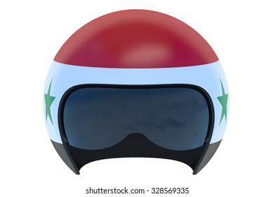 Syrian Flight Helmet isolated on white background