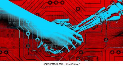 System Integration Technology Network Platform with AI 3D Render