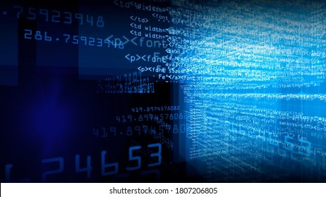 System Technology Character Software Black Background Image Summary Illustration 3D rendering