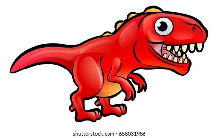 A T Rex dinosaur animals cartoon character
