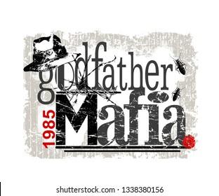 t shirt print, godfather graphic