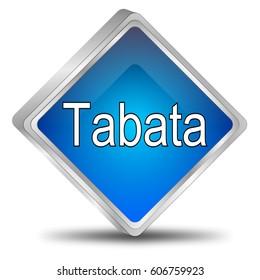 Tabata button - 3D illustration