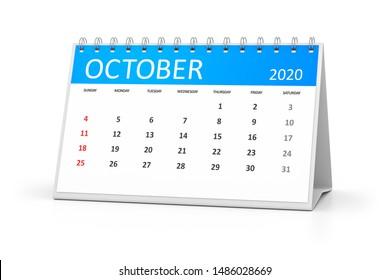 ein Tischkalender für Ihre Veranstaltungen 2020 3. Oktober Illustration