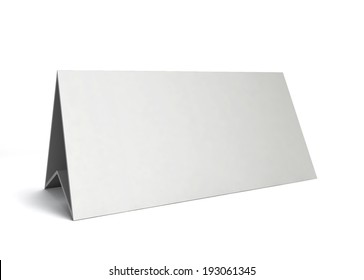 Table card. 3d illustration isolated on white background