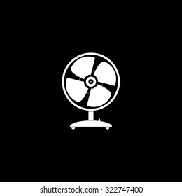 Table fan. Simple icon. Black and white. Flat illustration