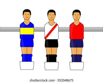 Table Football Figures with Argentinian League Uniforms 1