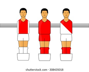 Table Football Figures with Dutch League Uniforms 2