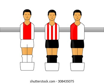 Table Football Figures with Dutch League Uniforms 1