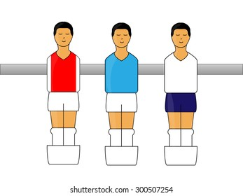 Table Football Figures with English League Uniforms 2