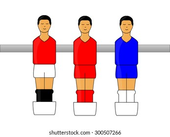 Table Football Figures with English League Uniforms 1