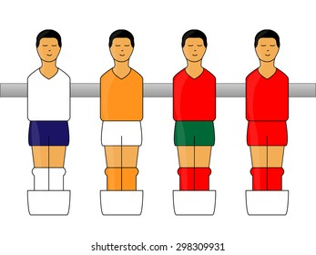 Table Football Figures with European Uniforms 2