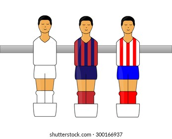 Table Football Figures with Spanish League Uniforms 1