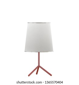 Table lamp with lampshade on a white background 3d