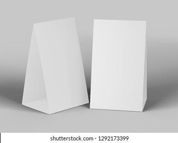 Table stand mockup. 3d Illustration