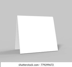 Table tent card. Blank white 3d render illustration.  sc 1 st  Shutterstock & table tent square Stock Illustrations Images u0026 Vectors | Shutterstock