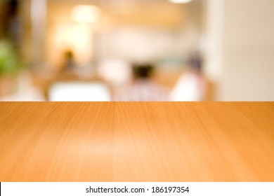 Table wooden in a business office