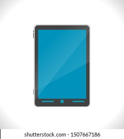 Tablet in black ipad style on white background. JPEG illustration of Template PC