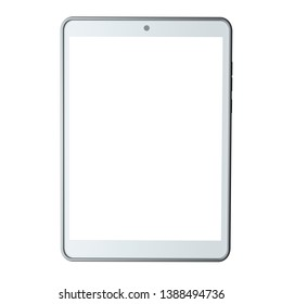 Tablet computer isolated on white background. Front view. 3d rendering