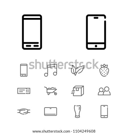 Tablet Icon Leaf Muscle Construction Symbols Stock