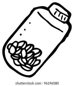 tablet jar cartoon