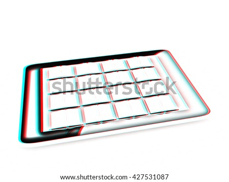 Tablet Pc Colorful Real Books On Stock Illustration