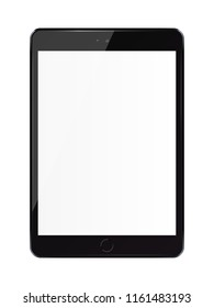 Tablet pc computer with blank screen isolated on white background.3D illustration.