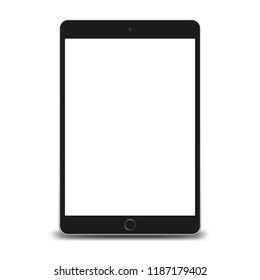 Tablet pc computer with blank screen isolated on white background. 3D illustration.