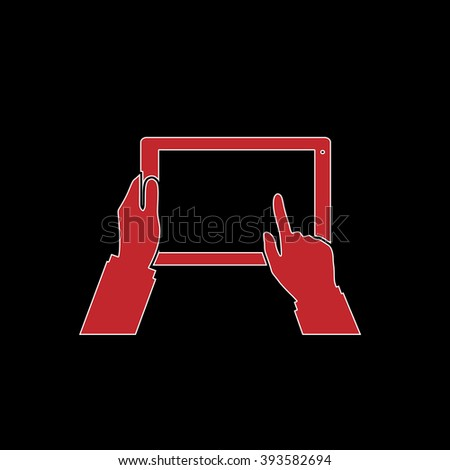 Royalty Free Stock Illustration Of Tablet Pc Human Hands Flat Symbol